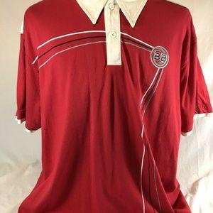 Vtg Bugle Boy Jean Company Polo Shirt Red XL